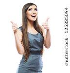 smile business woman portrait... | Shutterstock . vector #125335094