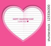 message of love in valentine's... | Shutterstock .eps vector #125336300