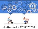 reception of psychotherapist....   Shutterstock .eps vector #1253375230