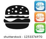 burger button icons set    Shutterstock .eps vector #1253376970