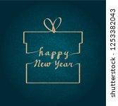 happy new year vector... | Shutterstock .eps vector #1253382043