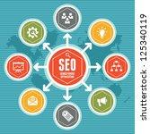 seo infographic concept 1 | Shutterstock .eps vector #125340119