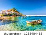 kokkari village panoramic view... | Shutterstock . vector #1253404483