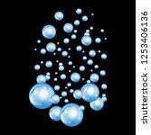 bubbles underwater texture... | Shutterstock .eps vector #1253406136