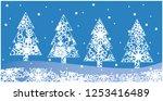 vector illustration christmas... | Shutterstock .eps vector #1253416489