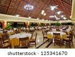 interior of the restaurant of... | Shutterstock . vector #125341670