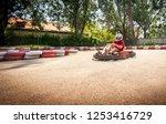 go kart speed drive race sport...   Shutterstock . vector #1253416729