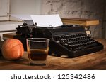 vintage still life with old... | Shutterstock . vector #125342486