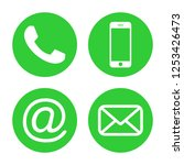 contact us icons. phone icon... | Shutterstock .eps vector #1253426473