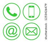 contact us icons. phone icon... | Shutterstock .eps vector #1253426479