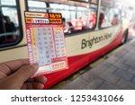 brighton  england 1 october... | Shutterstock . vector #1253431066
