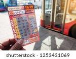 brighton  england 1 october... | Shutterstock . vector #1253431069