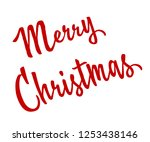 merry christmas red... | Shutterstock .eps vector #1253438146