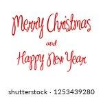 merry christmas red... | Shutterstock .eps vector #1253439280
