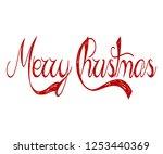 merry christmas red... | Shutterstock .eps vector #1253440369