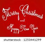 merry christmas red... | Shutterstock .eps vector #1253441299