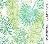 tropical pattern. seamless... | Shutterstock .eps vector #1253447146
