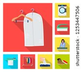 isolated object of laundry and... | Shutterstock .eps vector #1253447506