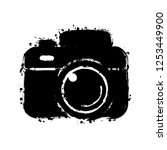 photo camera  simple icon.... | Shutterstock .eps vector #1253449900