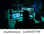 hackers making cryptocurrency... | Shutterstock . vector #1253457799
