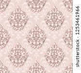 vector damask seamless pattern... | Shutterstock .eps vector #1253461966
