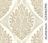 vector damask seamless pattern... | Shutterstock .eps vector #1253461990