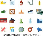color flat icon set pipes flat... | Shutterstock .eps vector #1253475913