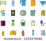 color flat icon set tool bag... | Shutterstock .eps vector #1253476060