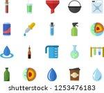 color flat icon set cauldron... | Shutterstock .eps vector #1253476183