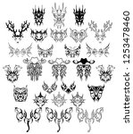 big set tattoos and stickers... | Shutterstock .eps vector #1253478460