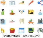 color flat icon set french... | Shutterstock .eps vector #1253482690