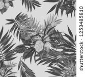 seamless pattern with... | Shutterstock . vector #1253485810