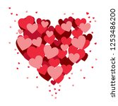 red love heart with hearts | Shutterstock .eps vector #1253486200