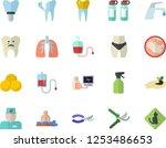 color flat icon set faucet flat ... | Shutterstock .eps vector #1253486653