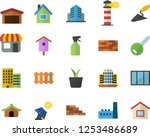 color flat icon set house flat... | Shutterstock .eps vector #1253486689
