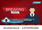 breaking news tv  tv news... | Shutterstock .eps vector #1253490286