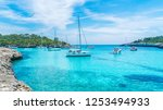 landscape with boats and... | Shutterstock . vector #1253494933
