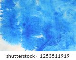 abstract hand painted blue... | Shutterstock . vector #1253511919