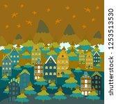 cute nature landscape concept... | Shutterstock .eps vector #1253513530