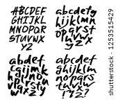 alphabet letters.black... | Shutterstock .eps vector #1253515429