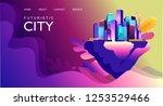 vector horizontal illustration. ... | Shutterstock .eps vector #1253529466