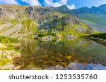 landscape with lake in... | Shutterstock . vector #1253535760