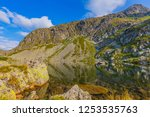 landscape with mountain lake in ... | Shutterstock . vector #1253535763