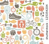 seamless pattern with healthy... | Shutterstock .eps vector #125354204