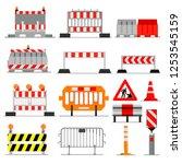 road barrier vector street...   Shutterstock .eps vector #1253545159
