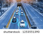 smart car  hud    autonomous... | Shutterstock . vector #1253551390