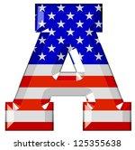 american alphabet | Shutterstock . vector #125355638