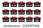 special sale offer. set of... | Shutterstock .eps vector #1253557696