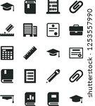 solid black vector icon set  ... | Shutterstock .eps vector #1253557990