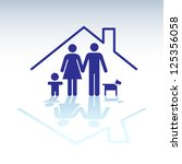 family in a house  symbol  ... | Shutterstock .eps vector #125356058